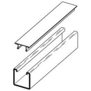 Eaton B-Line B217-24GLV120 SNAP CLOSURE STRIP FOR ALL 1 5/8-IN. WIDE CHANNELS, 24 GA., 12