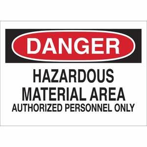 25443 CHEMICAL & HAZD MATERIALS SIGN