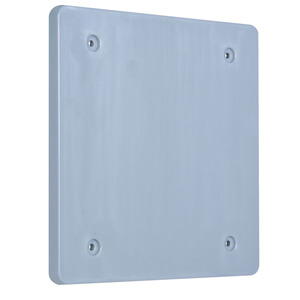 Hubbell-TayMac PBC200GY Weatherproof Cover, 2-Gang, Type: Blank with Gasket, Non-Metallic
