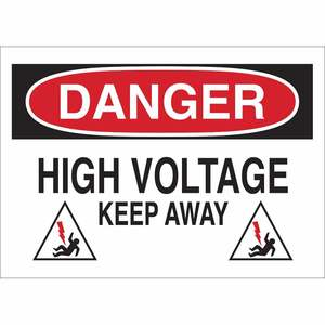 25540 ELECTRICAL HAZARD SIGN