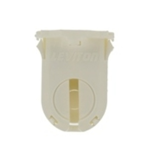 Leviton 23661-SWP Fluorescent Lampholder, Medium Base, Turn Type w/ Lock, White