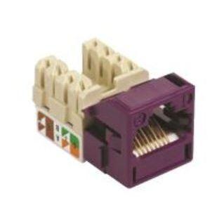 Commscope CC0021857/1 Snap-In Jack, UNJ500, CAT5e, U/UTP, Violet