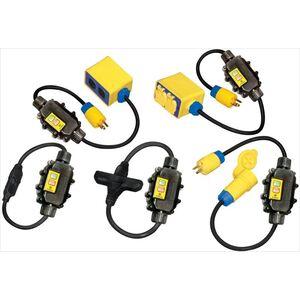 Ericson XG2-12-50TT In-Line GFCI, Molded-On Plug & Tri-Connector, 15A, Auto, 50'