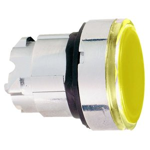 Square D ZB4BW353 Push Button, Illuminated, LED Yellow, 22.5mm, Flush, Operator Only