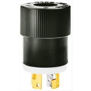 Hubbell-Bryant 9967 Lkg Plug, 20a 120/208v, B/w