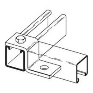 Eaton B-Line B108ZN Two Hole Offset Z-support, Zinc Plated