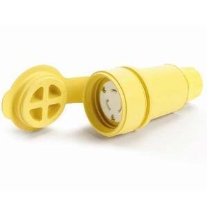 Woodhead 27W47 Locking Connector, 20A, 125V, Waterproof