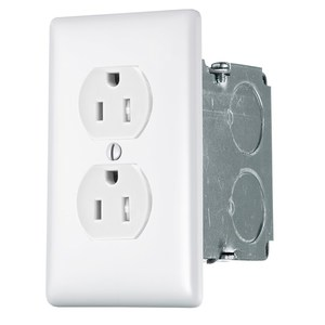 Hubbell-Premise NSOKPTR Power Kit, Wallplate, Box, 15A Tamper-Resistant Outlet, White