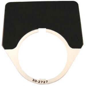 Eaton 10250TJ36 30mm Legend Plate, Blank, Black Field