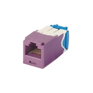 Panduit CJ6X88TGVL-24 Mini-Com Module, Cat 6A, UTP, 8 pos 8 wi