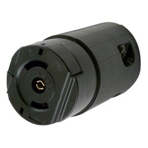 Hubbell-Wiring Kellems HBL7593V Locking Connector, Midget, Valise, 15A, 125V, Black