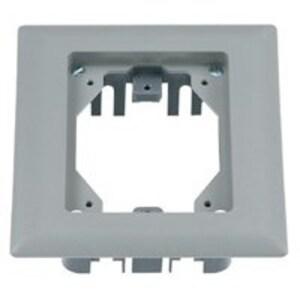 Hubbell-Kellems PFBRFGY1 Rectangular Plastic Floor Box, Carpet Flange, 1-Gang, Gray