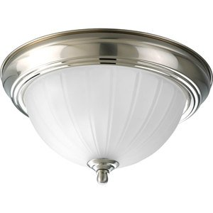 Progress Lighting P3816-09 Close to Ceiling Light, 1-Light, 75W, Brushed Nickel