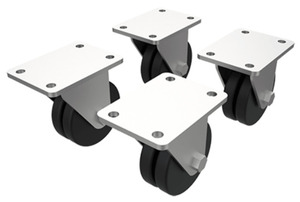 nVent Hoffman DLCASTERS Caster Kit for Network Cabinet (x4)