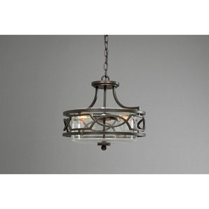 Progress Lighting P350050-020 3-Lt. Antique Bronze Semi-Flush Convertible