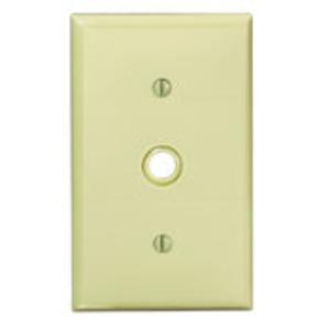 80718W PB WH WP 1G TEL PLASTIC W/CAP SCR