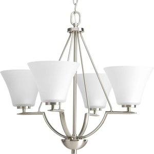 Progress Lighting P4622-09 4-Lt. Brushed Nickel Chandelier