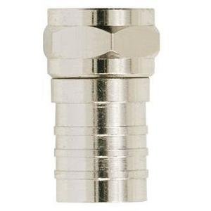 Ideal 85-030 F-Connector, Crimp On, RG^ Quad Shield, Brass, Card of 50 *** Discontinued ***
