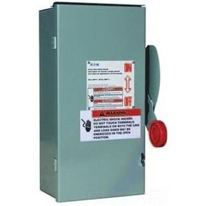 Eaton DH161UWKN Disconnect Switch, 30A, 600VDC, 1P, Non-Fusible, NEMA 4X