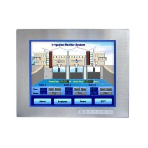 "Advantech C-GEX020-FPM8151-1 Operator Interface, 15"" XGA Color, Industrial Monitor, Stainless Steel"