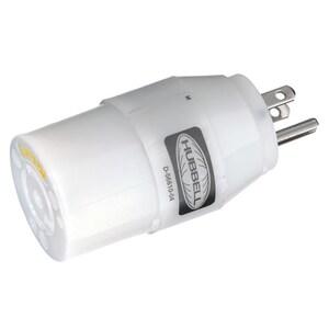 Hubbell-Wiring Kellems HBL21CM28 MARINE ADAP NEMA 5-15P TO NEMA L5-20R