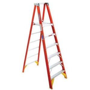 Werner Ladder P6204 Fiberglass Platform Twin Stepladders