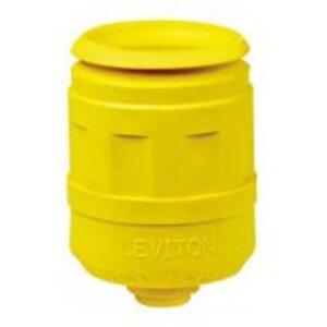 Leviton 6031-Y Boot, 20 Amp & 30 Amp, Yellow