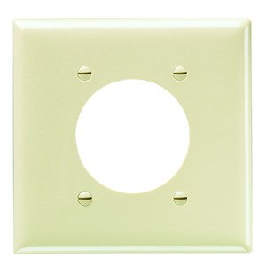 Pass & Seymour SP703-I P&S SP703-I SMOOTH WALL PLATE 2G PO