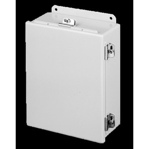 "nVent Hoffman A14128CHNF Junction Box, NEMA 4, Continuous Hinge, 14"" x 12"" x 8"""