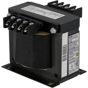 Square D 9070T350D33 Control Transformer, 350VA, 380/400/415 - 115/230, Type T, 1PH, Open