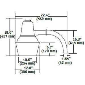 Hubbell - Lighting DDS-70P Barnlight, Pulse Start Metal Halide, 70W, 120V *** Discontinued ***
