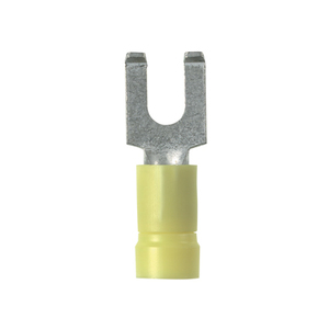 Panduit PV10-10FF-L Flanged Fork Terminal, vinyl insulated,