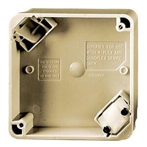 Hubbell-Wiring Kellems HBL4PBI 4-PLEX PORT BOX, IV