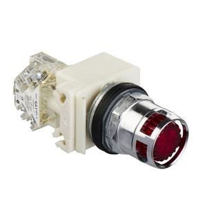 9001K3L38LRRH13 30MM ILL PB RED LED 120V