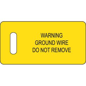 """Panduit PT-GND Ground Warning Tag, 2.75""""x1.38"""" w/slot,"""