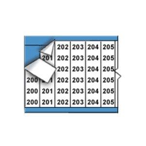 Brady WM-200-224-PK Consecutive Nos. - Legend: 200-224