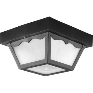Progress Lighting P7340-31WB Ceiling Light, Outdoor, 1-Light, 27W, Black *** Discontinued ***