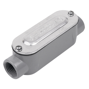 "Red Dot DAC-1-CG Conduit Body With Cover/Gasket, Type: C, Size: 1/2"", Aluminum"