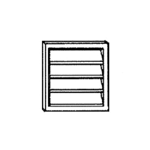 """Broan 646 Plastic Louvered Wall Cap For 6"""" Duct. White."""