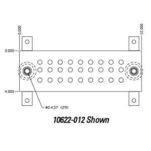 "Chatsworth 10622-012 Standard Busbar, Copper, 4"" W x 1/4"" H x 12"" L"
