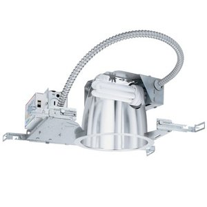 Lithonia Lighting 6HF1/26-42TRTMVOLT CFL Horizontal Downlight, 6""