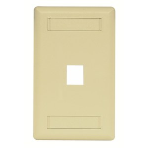 Hubbell-Premise IFP11EI Module Faceplate, 1-Port, 1-Gang, Electric Ivory, Labeling Window