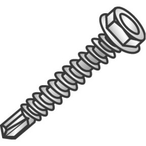 Cully 78808J CUL 78808J 8X1/2 HWH TEK SCREWS ZP