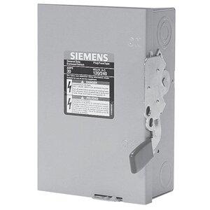 Siemens GF321NR Safety Switch, 30A, 3P, 240V, GD Fusible, NEMA 3R