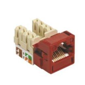 Commscope CC0020594/1 Snap-In Jack, UNJ500, CAT5e, U/UTP, Red