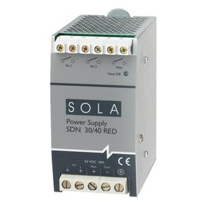 Sola Hevi-Duty SDN40-24-480C Power Supply, 40A, 3P, 380-480VAC, 24VDC, 960W, DIN Rail Mount