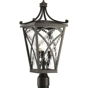 Progress Lighting P6442-108 3-Lt. Oil Rubbed Bronze Post Lantern