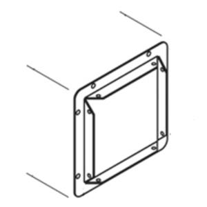 "Eaton B-Line 44-GF Wireway Panel Adapter, Type 1, Lay-In, 4"" x 4"", Steel, Gray"