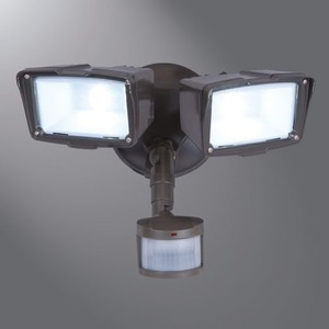 MST18920L TWIN LED FLOOD BRONZE DIECAST