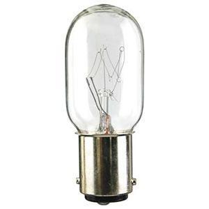 SYLVANIA 25T8DC-120V Miniature Incandescent Lamp, T8, 25W, 120V, Clear